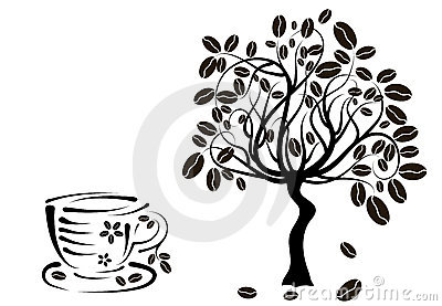 Coffee tree in a cup,