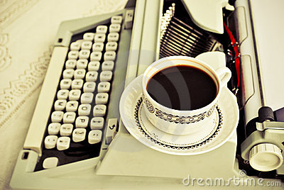 Coffee and a type-writer