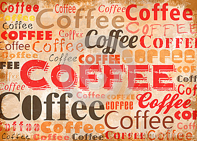 Coffee Typo Collage