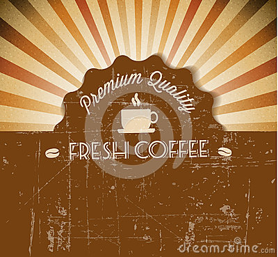 Free Coffee Vector Grunge Retro Vintage Label Stock Image - 26045221