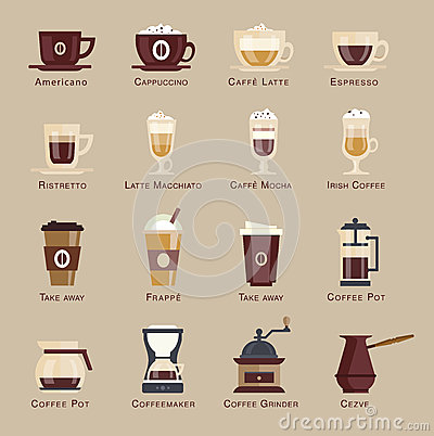 Free Coffee Vector Icon Set Menu Royalty Free Stock Photography - 51036947