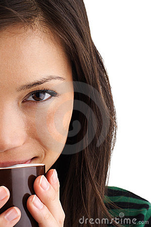 Free Coffee Woman Royalty Free Stock Photos - 9673628