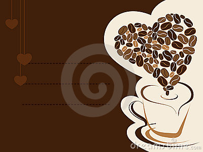 Coffee for your loved one. Vector illustration.