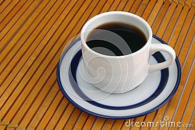 Coffeecup on Wood