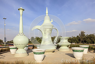 Coffeepot roundabout in al ain uae stock photo image for Diwan roundabout al ain