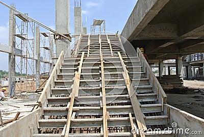 Coffrage d 39 escalier au chantier de construction photo stock image 5898 - Construction des escaliers ...