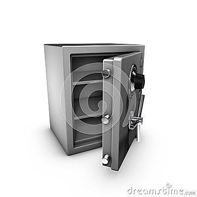 Coffre fort ouvert images libres de droits image 1550659 for Prix d un coffre fort
