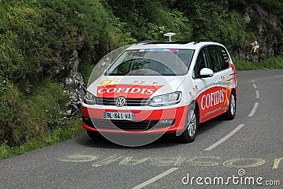 Cofidis αυτοκινήτων Εκδοτική Στοκ Εικόνα