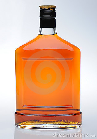 Cognac in bottle