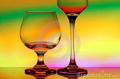 Cognac and wineglass