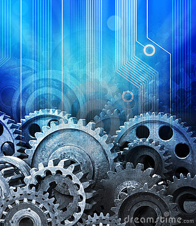 Cogs Computer Technology Background