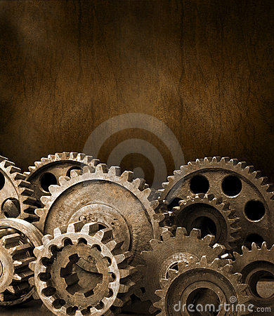 Free Cogs Gears Brown Background Royalty Free Stock Photo - 23037525