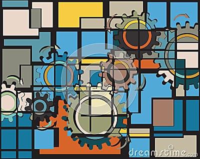 Cogs mosaic