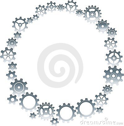 Cogs In Round Frame Border Royalty Free Stock Photography - Image: 19957237