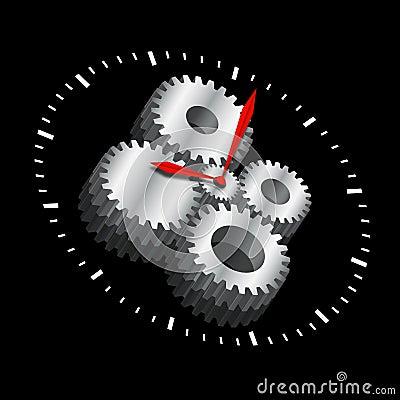 Cogwheel Clock