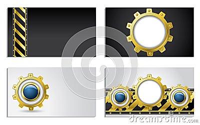 Cogwheel design business cards
