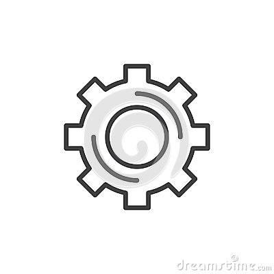 Free Cogwheel, Gear Line Icon, Outline Vector Sign Royalty Free Stock Image - 97079336