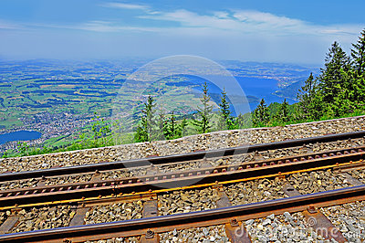 Cogwheel railway. Switzerland.