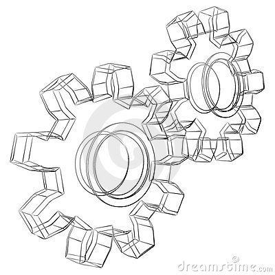 Free Cogwheels Sketch Stock Images - 11727164