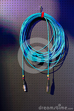 Coil of blue wire