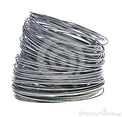 Coil of galvanized wire