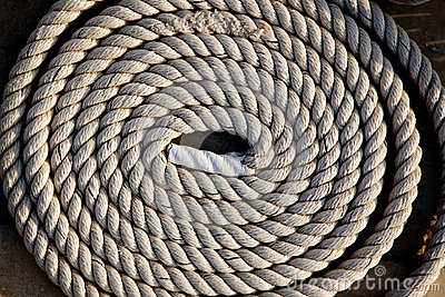 Coil of marine rope detail