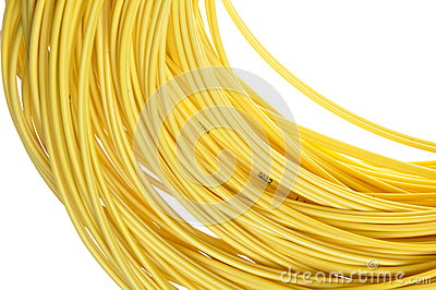 The coil of yellow cord