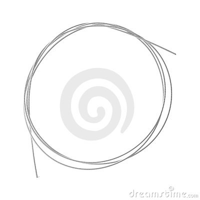 Coiled  metal-wound nylon bass string