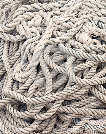 Free Coiled Rope Royalty Free Stock Photography - 25478247