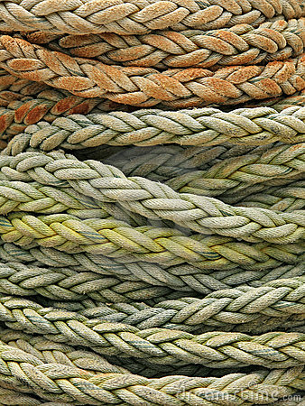 Free Coiled Rope Detail Royalty Free Stock Photo - 5408745