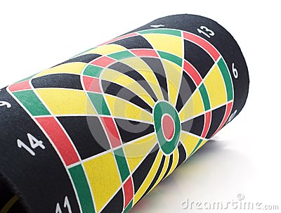 Coiled target darts