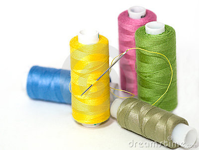 Coils of colour threads