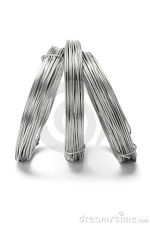 Free Coils Of Galvanized Wires Standing Stock Photos - 19170513
