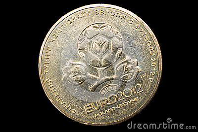 Coin for EURO 2012, Ukraine.