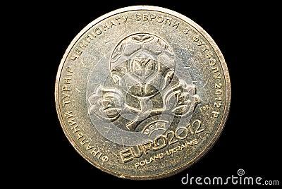 Coin for EURO 2012, Ukraine.