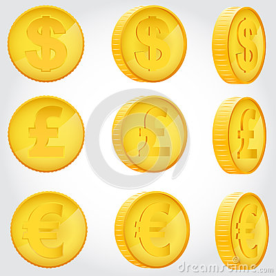Free Coin In Different Angles Royalty Free Stock Photography - 49427707
