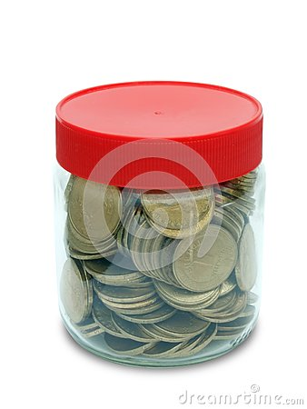 Coin in jar