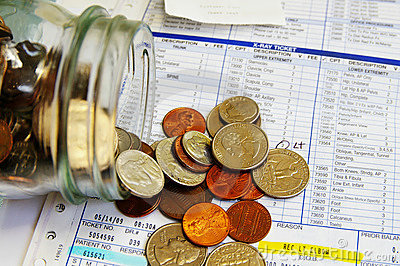Coin jar medical bills