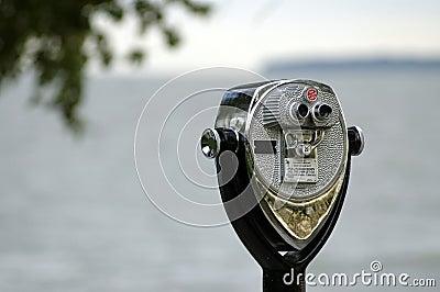 Coin-Op Binoculars Near Marblehead Lighthouse
