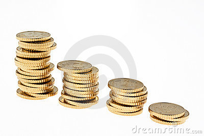 Coin Stack of euro coins