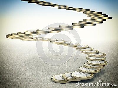 Coin stair