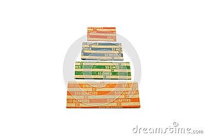 Coin wrapper pyramid
