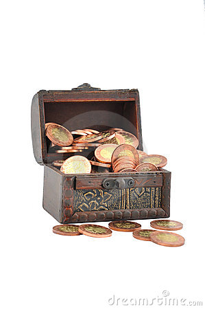 Coins in a chest