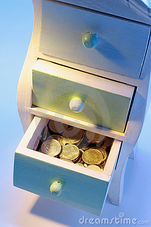 Coins in Chest of Drawers