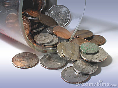 Coins in a cup