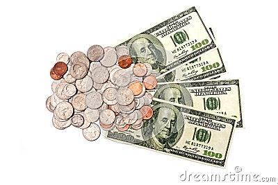 Coins And Dollars XXXL Isolated