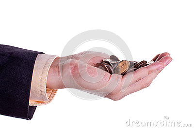 Coins in hand 2