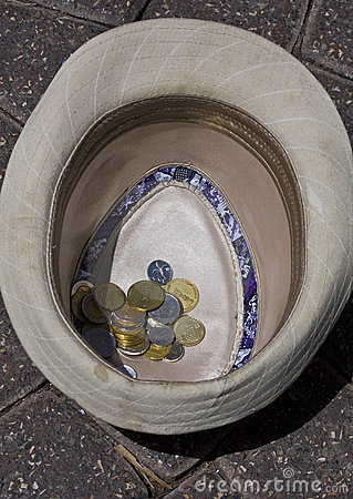 Coins in a hat