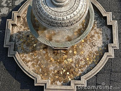 Coins In Historic Fountain Stock Image Image 5933361