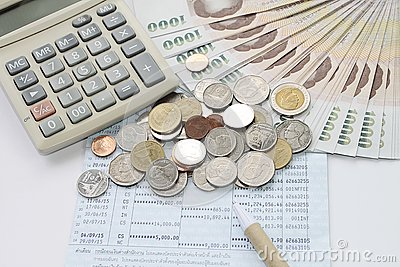 Coins Money Calculator And Pen On Savings Account Passbook – Savings Account Calculator